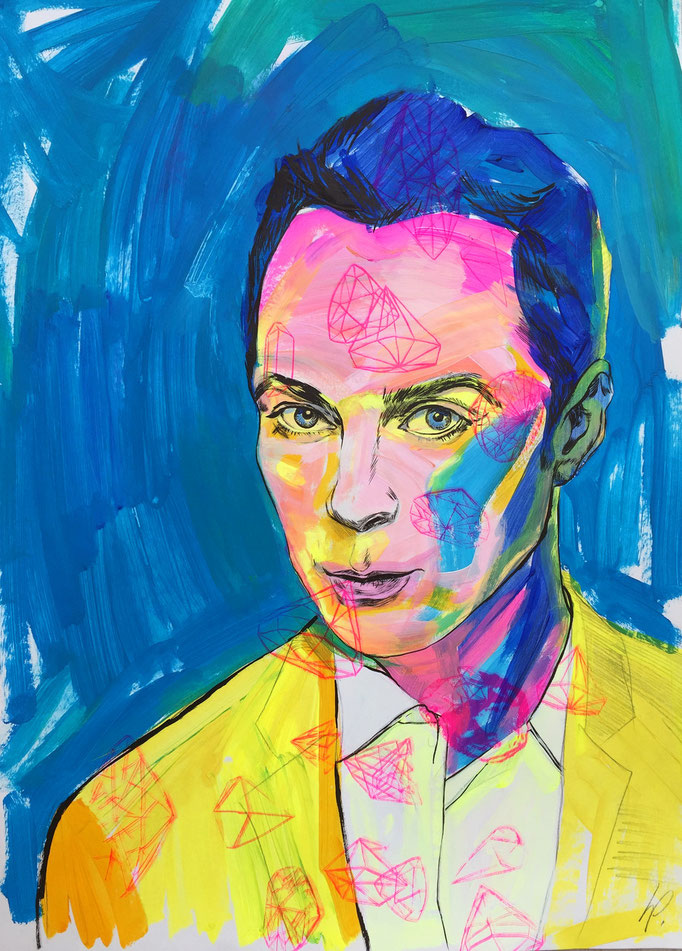 Jim Parsons / acrylic, ink on paper / 50x70cm