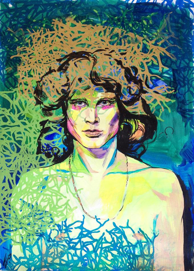 Jim Morrison / acrylic, ink on paper / 63x88cm