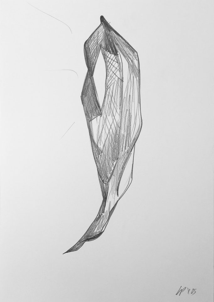 Seed sketch 8 / pencil on paper, 50x70cm, 2005