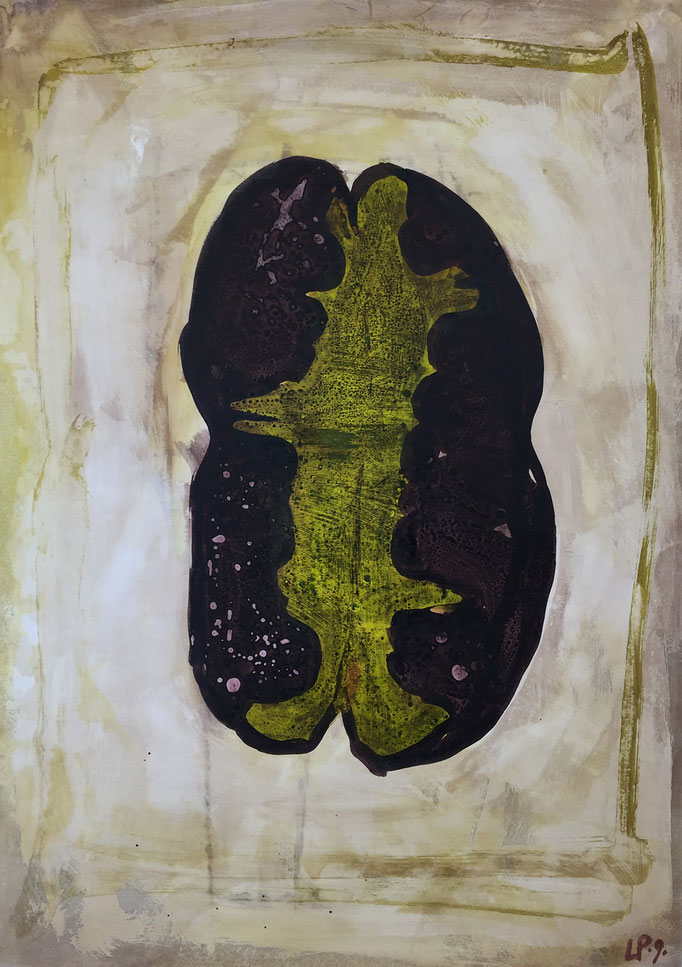 Seed 6 / acrylic, ink on paper, 50x70cm, 2004