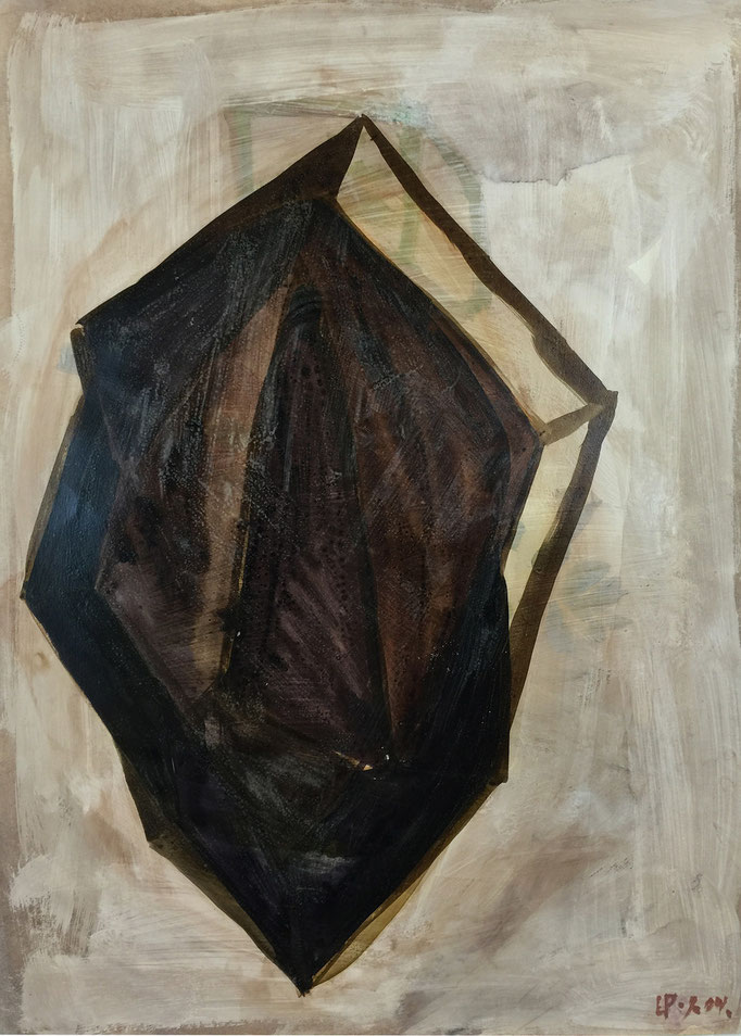 Seed 3 / acrylic, ink on paper, 50x70cm, 2004