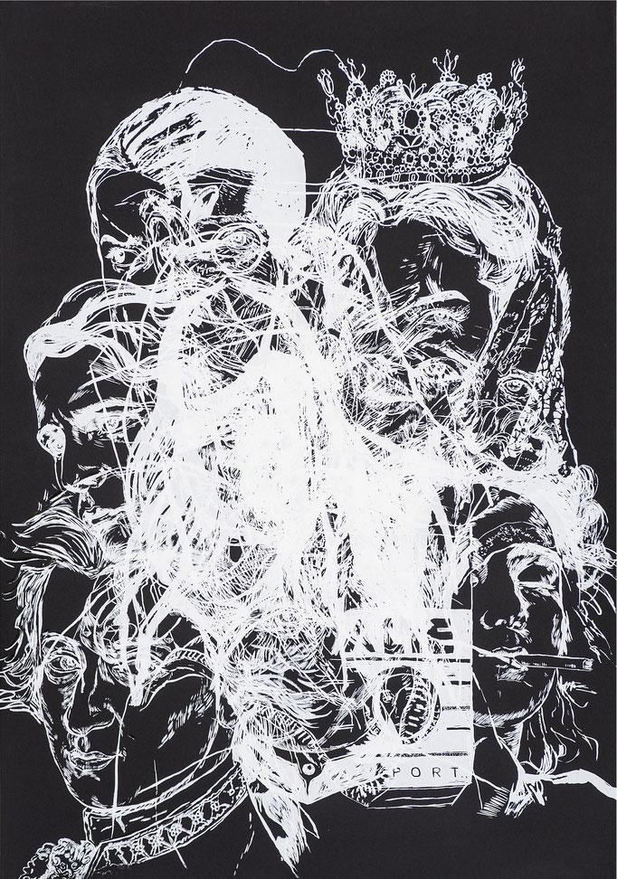 Time Layers II / silk-screen prints / 70x100cm