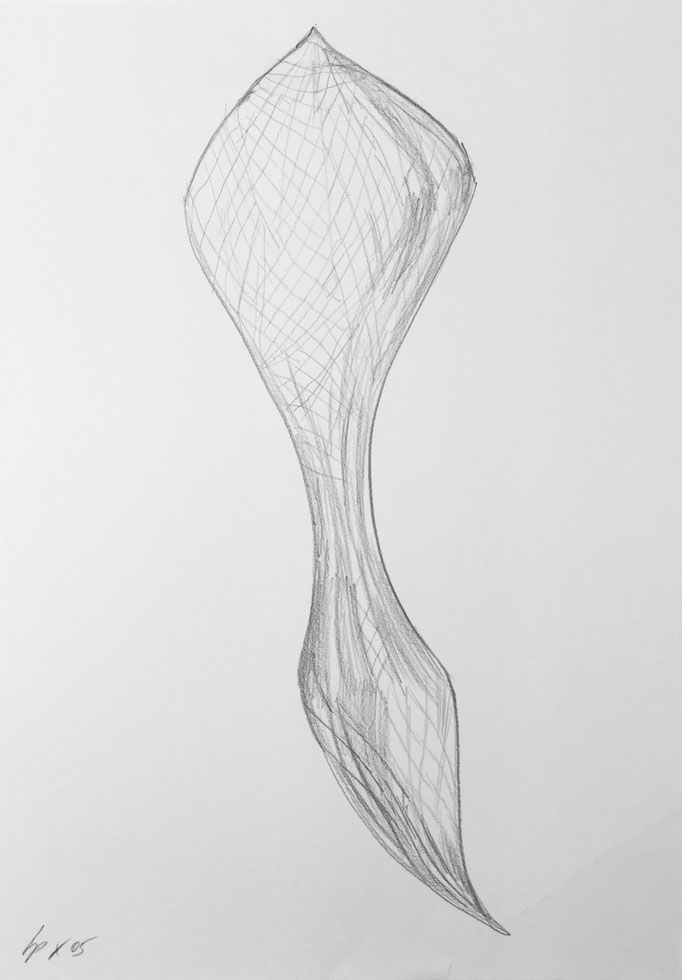 Seed sketch 5 / pencil on paper, 50x70cm, 2005