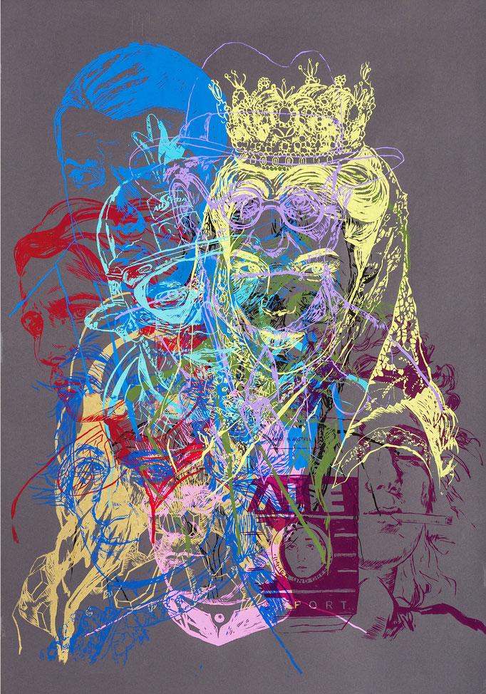 Time Layers IV / silk-screen prints / 70x100cm