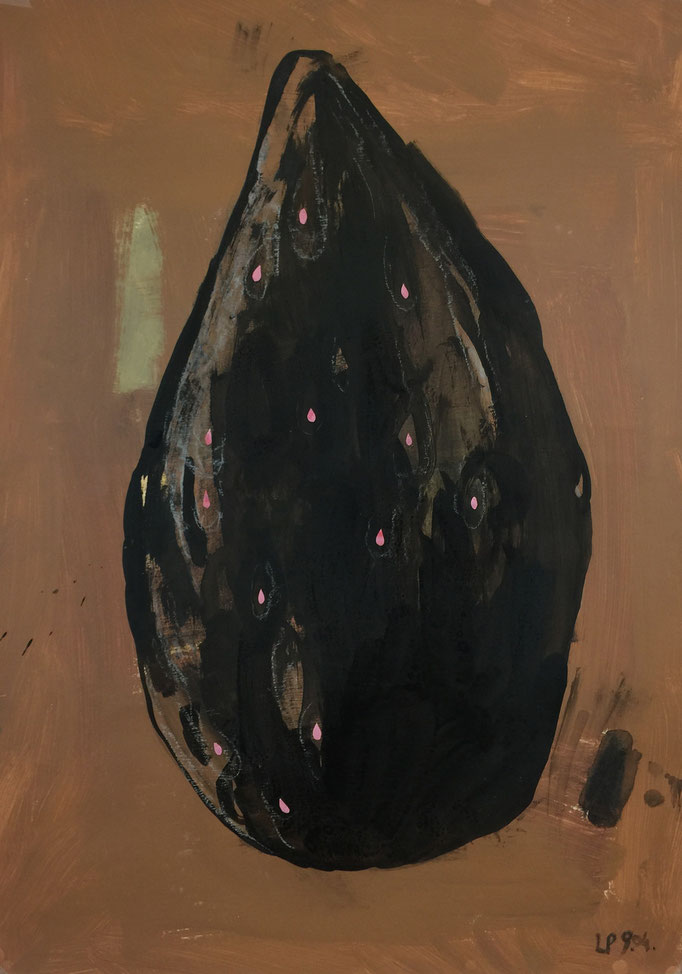 Seed 1 / acrylic, ink on paper, 50x70cm, 2004