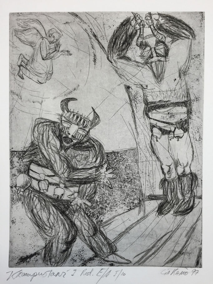 Bulgarian myths 2 / etching, ca. 20x30cm, 1997