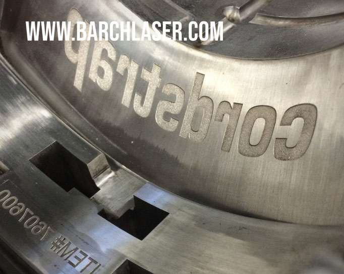 concave engraving on stainless steel
