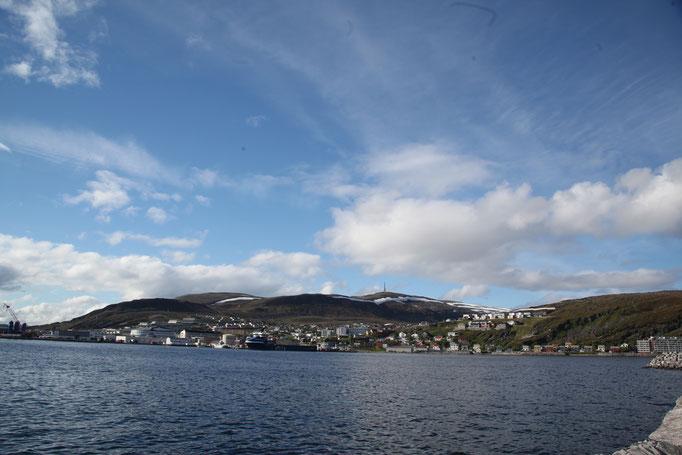 Über den Fjord von Hammerfest