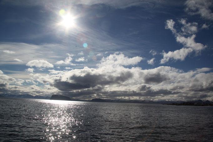 Und immer wieder die schöne Kuliesse der Wolken