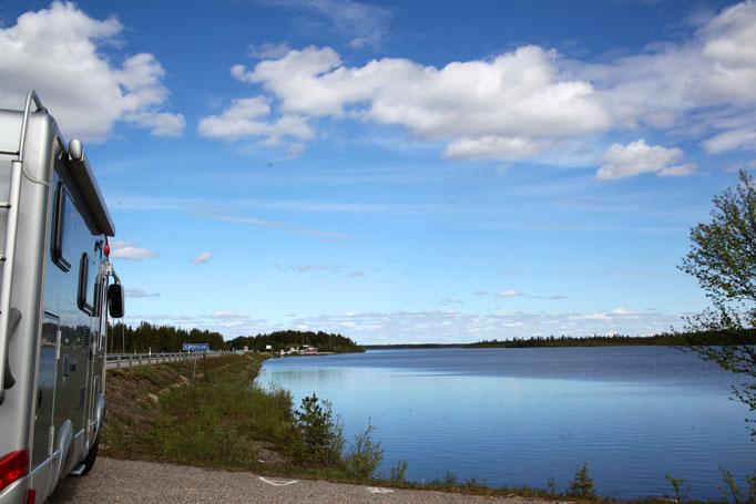 Schweden mit seine Wunderschöne See
