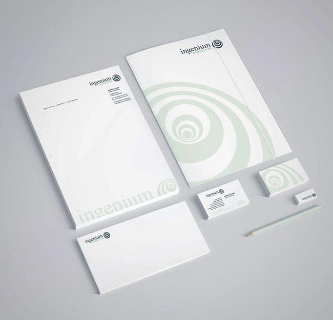 Ingenium Consulting - Geschäftsausstattung