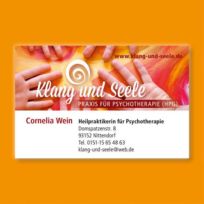 Cornelia Wein Heilpraktikerin für Psychotherapie - Visitenkarte