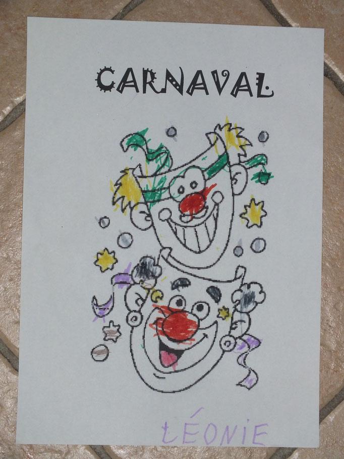 dessin de carnaval simple pour les petits
