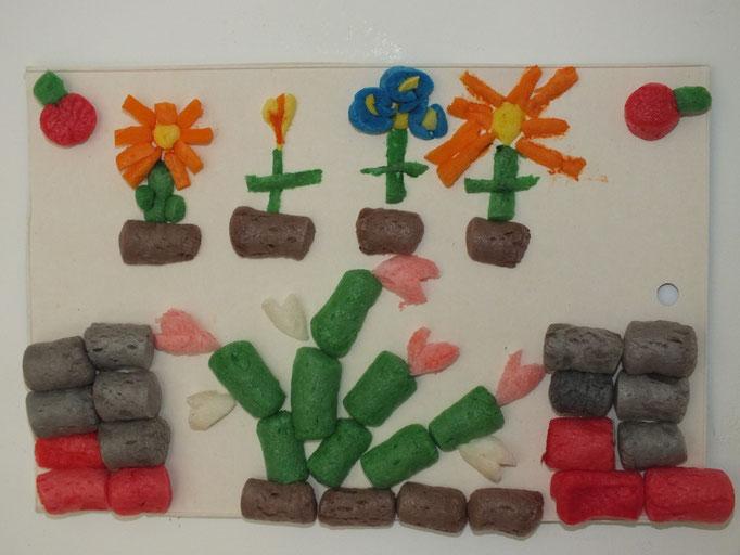 jardin de fleurs en Playmais pour l'arrivée du printemps