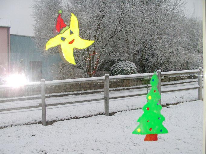 "dessin de Noël avec la peinture ""windows color"""