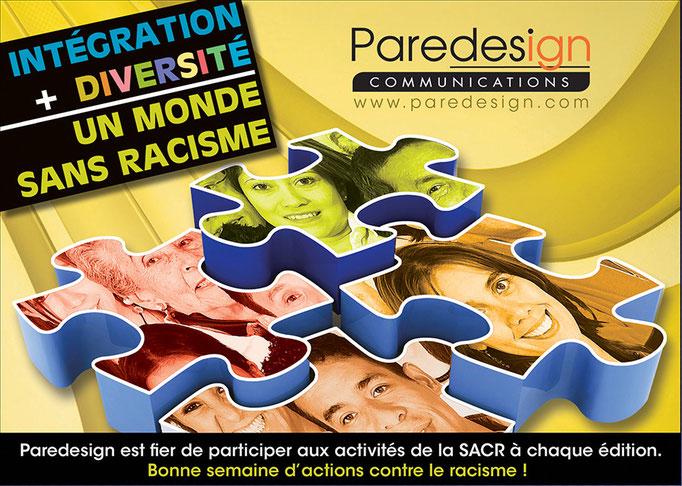 Création publicitaire de Paredesign dans les activités de la SACR