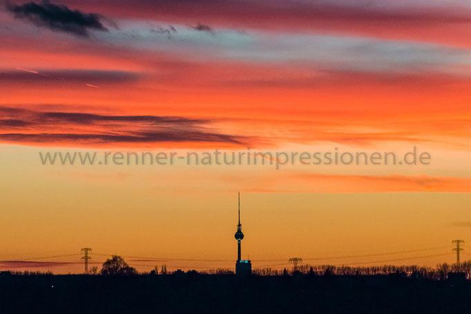 Berlin, 25.12.2015, Sonnenuntergang