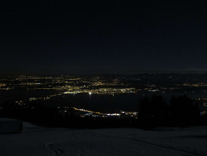 Hurden und Rapperswil bei Nacht