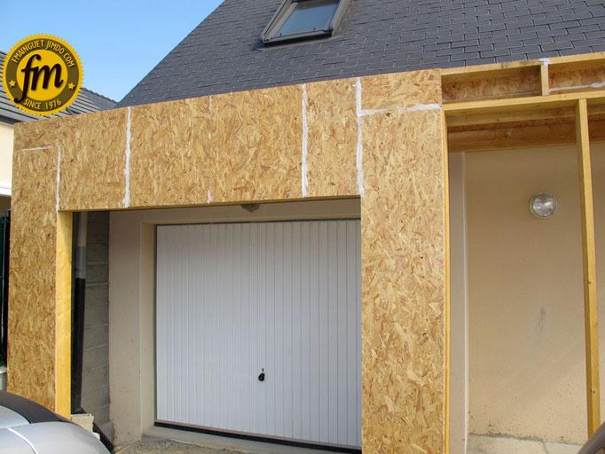 Extension maison en ossature bois site de fr d ric mainguet for Extension maison osb