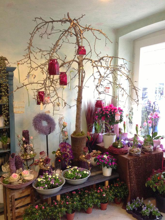 Innenraumdekoration lila