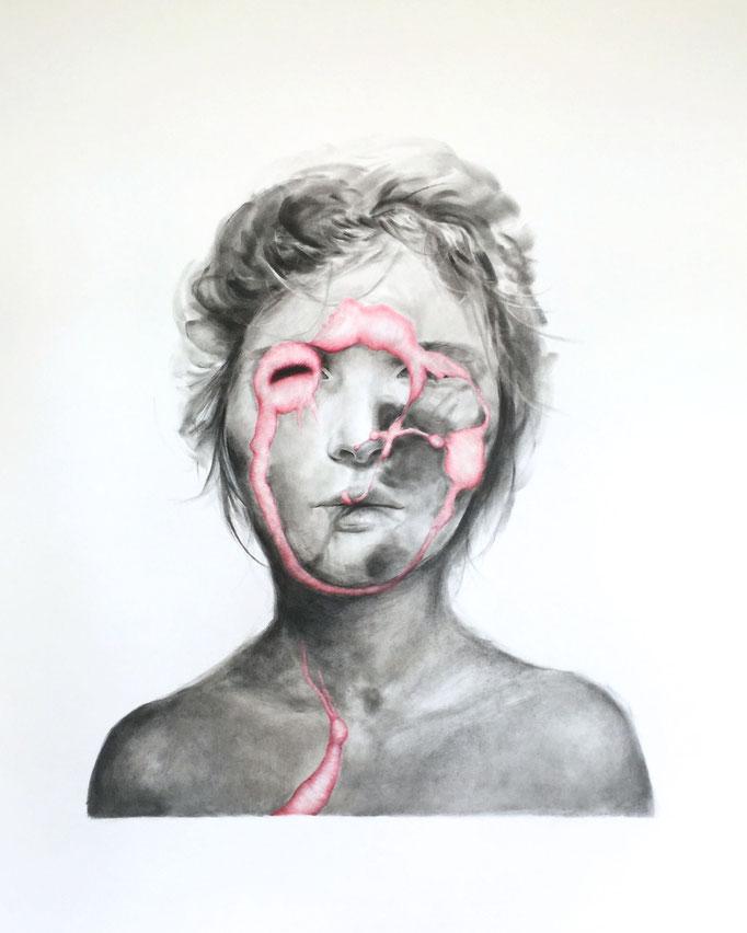 Memories (2019), panpastel and color pencil on paper, 76 x 68 cm