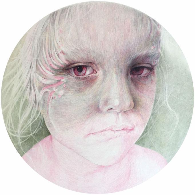 Sorrow (2017), color pencil on paper, 70 x 70 cm