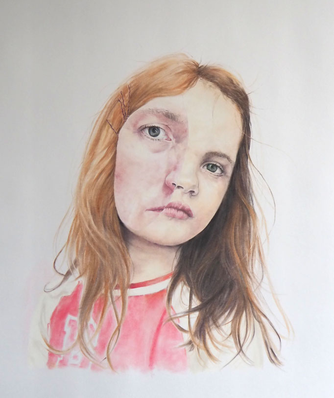 Are you just like me (2017), panpastel on paper, 100 x 70 cm