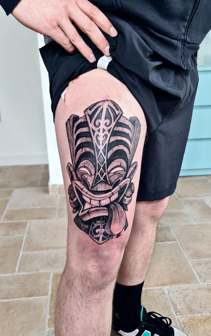 #Hawaiianmask #hawaiianischemaske #tattoo