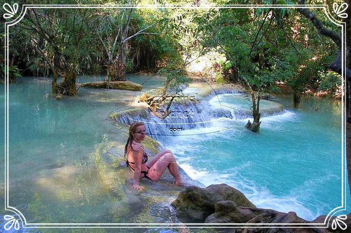 Schönheit am Kuang Si Wasserfall