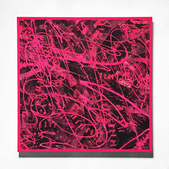 pynk 654×654×45mm / acrylic on canvas / 2019