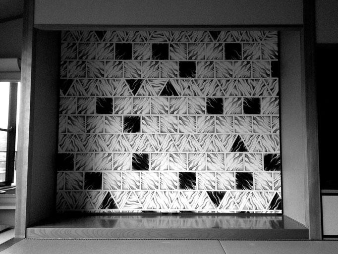STEKI TILE 2600x2300x40mm / acrylic on wood / 2015