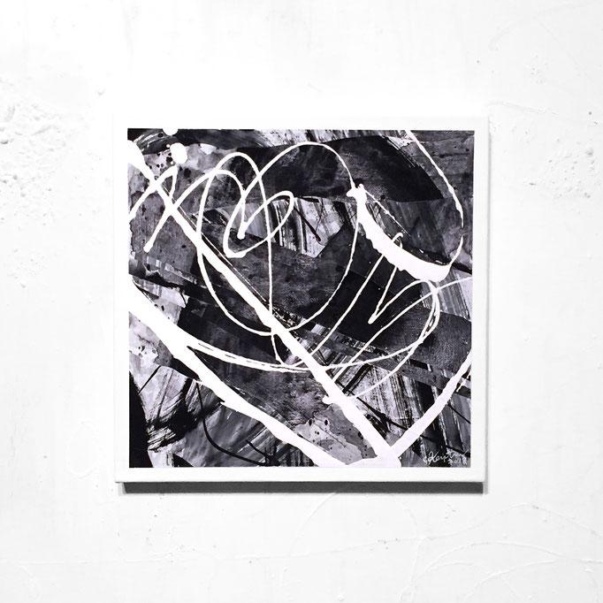 LONDON dejavu 230x230x17mm / acrylic on canvas / 2018