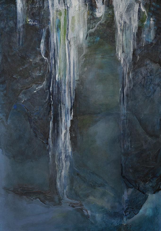 Vodo-pády * akryl na plátně * 70/100