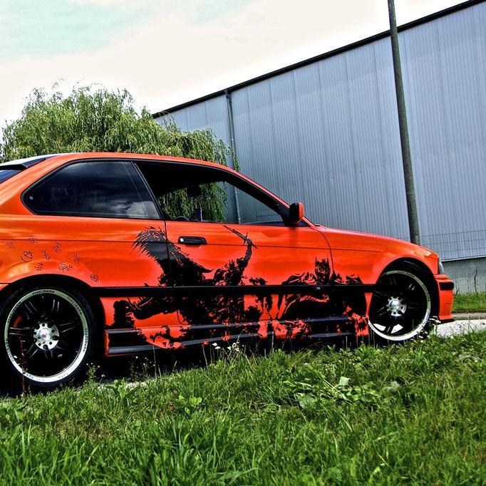 BMW 318is Optimus Prime Transformers, Lackierung