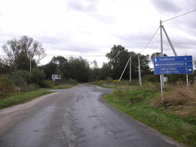 In Mahnsfeld an der Kreuzung