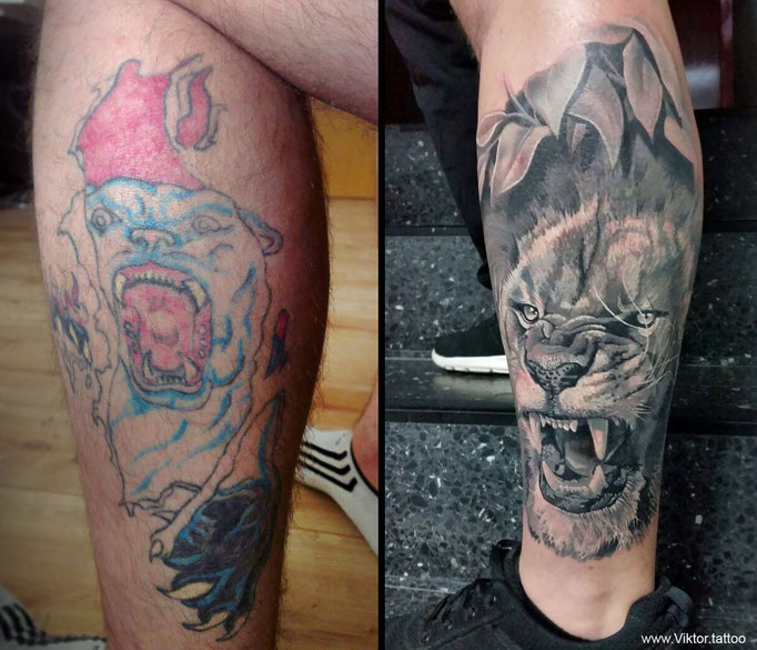 Cover up Tattoo by Viktor Meyer