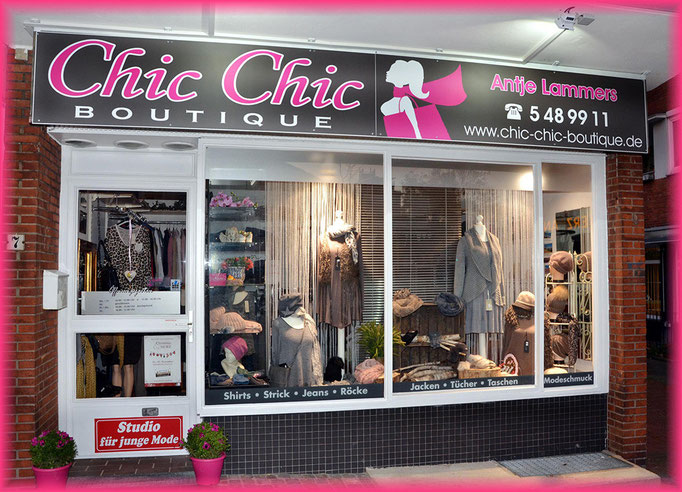 Herzlich willkommen! © ChicChic BOUTIQUE by Antje Lammers
