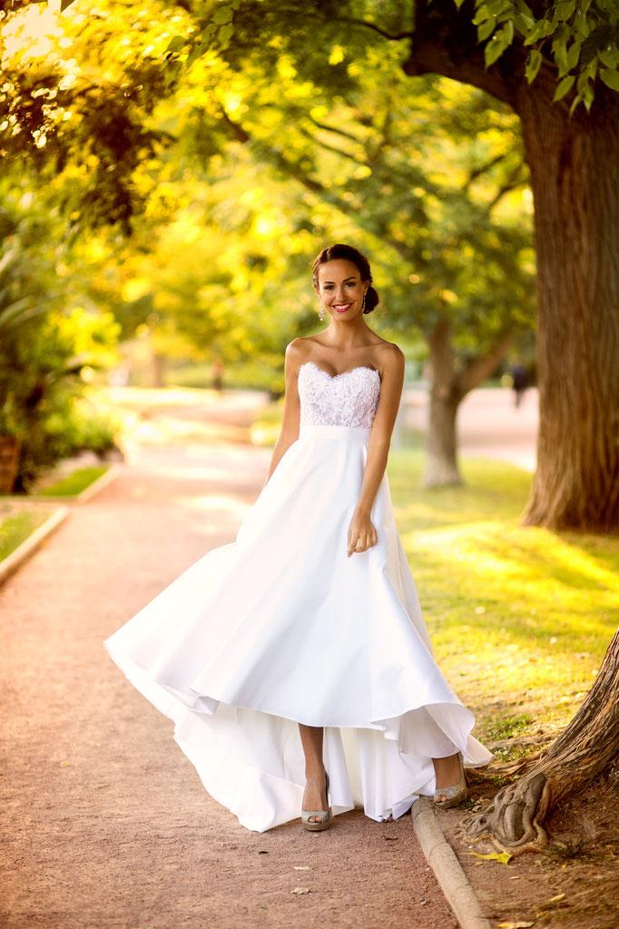 Ludivine Guillot, robe de mariée sur mesure à Lyon.