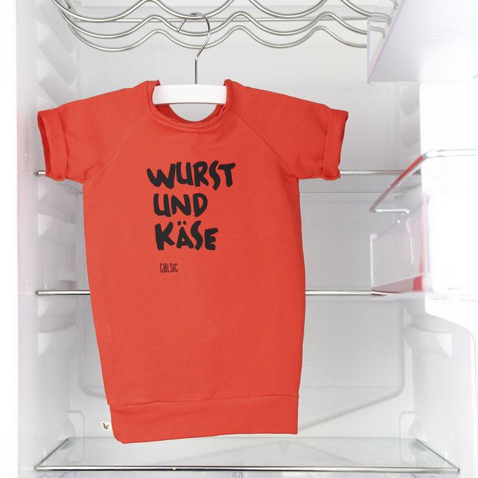Wurst und käse /Orange sweaterdress   #0117DR03 / 32,00