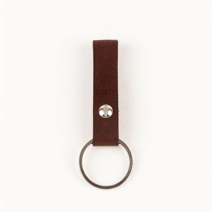 Schlüsselanhänger Leder braun