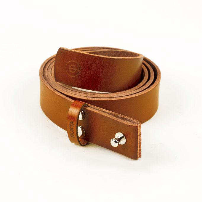 minimalistischer Echtleder Gürtel aus  pflanzlich gegerbtem Leder