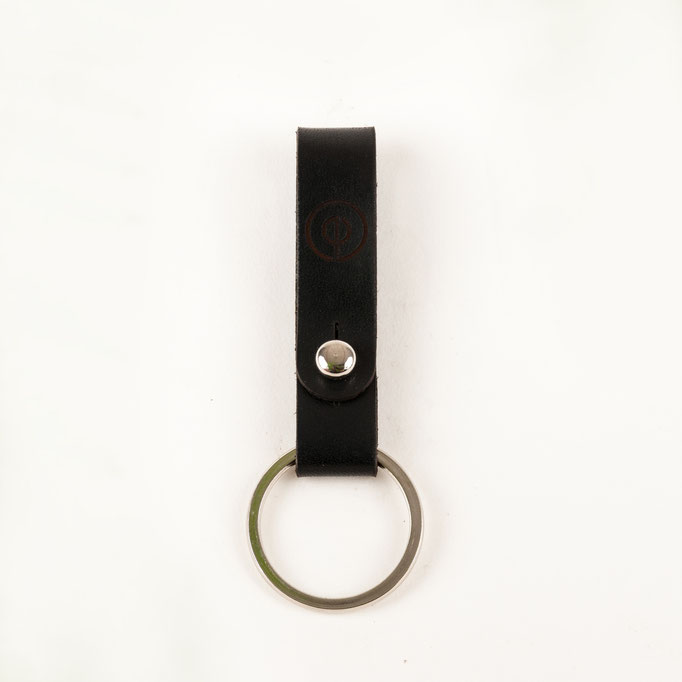 Schlüsselanhänger Leder schwarz