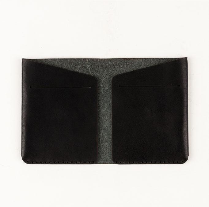 Leder Kartenetuit schwarz 100€