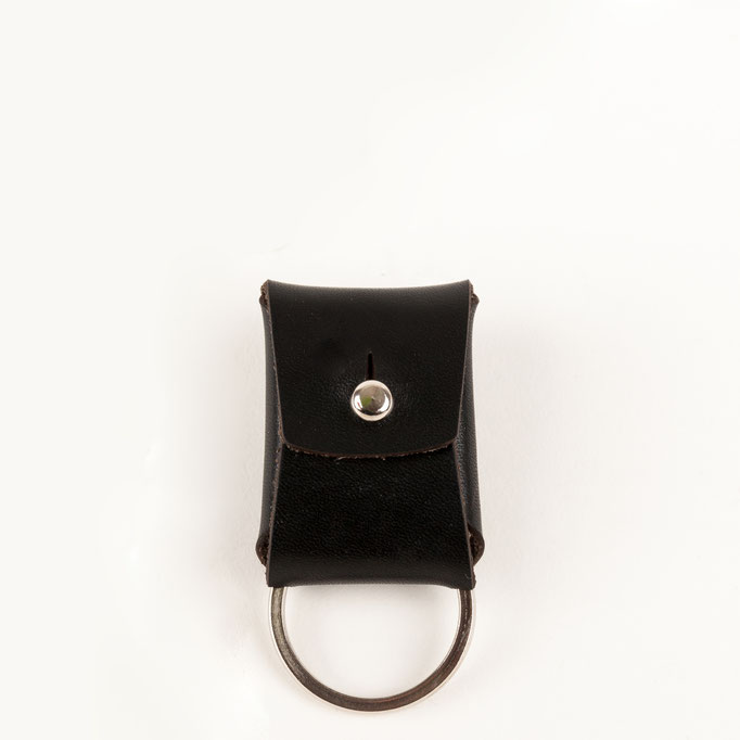 Schlüsselanhänger Leder schwarz Schlüsselbag