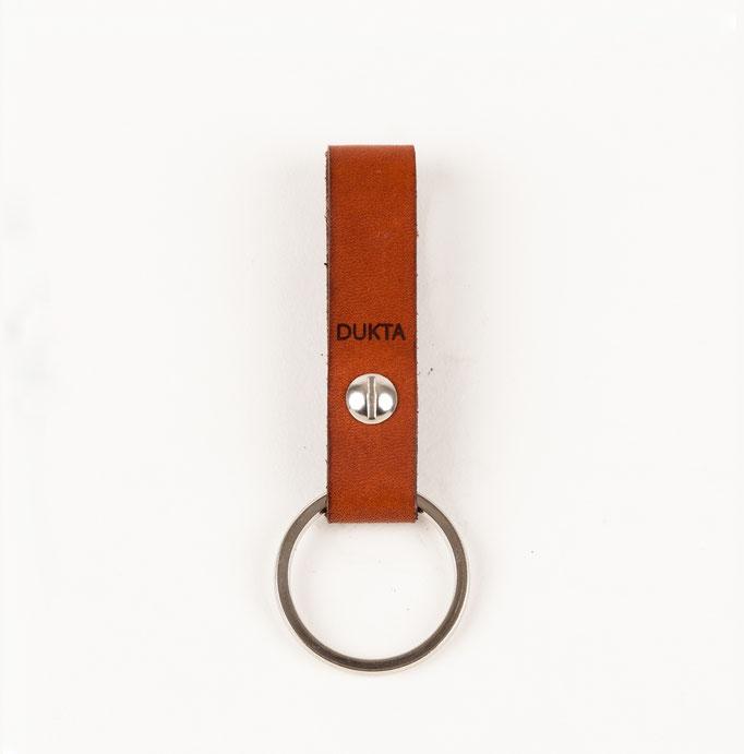 Schlüsselanhänger Leder cognac