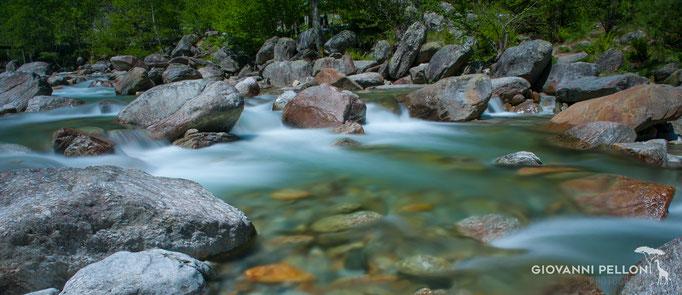 River Redota near Sonogno, Ticino, Switzerland 2017