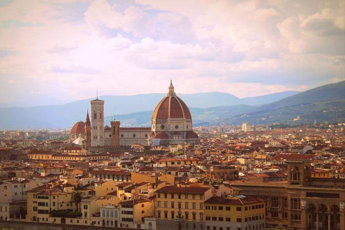 Blick über Florenz mit Dom