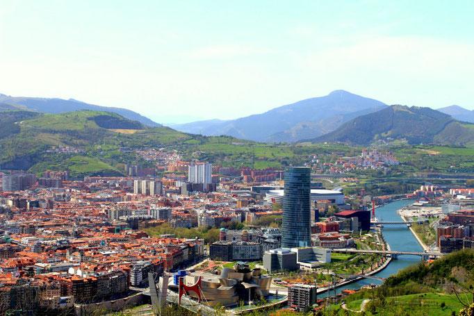 Blick über Bilbao