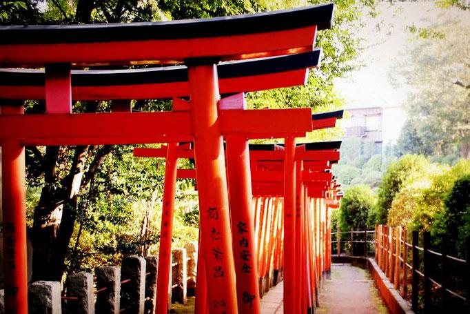 Nezu Schrein im Stadtteil Bunkyō