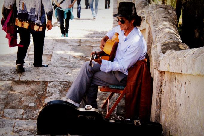 Straßenmusiker in Pollença